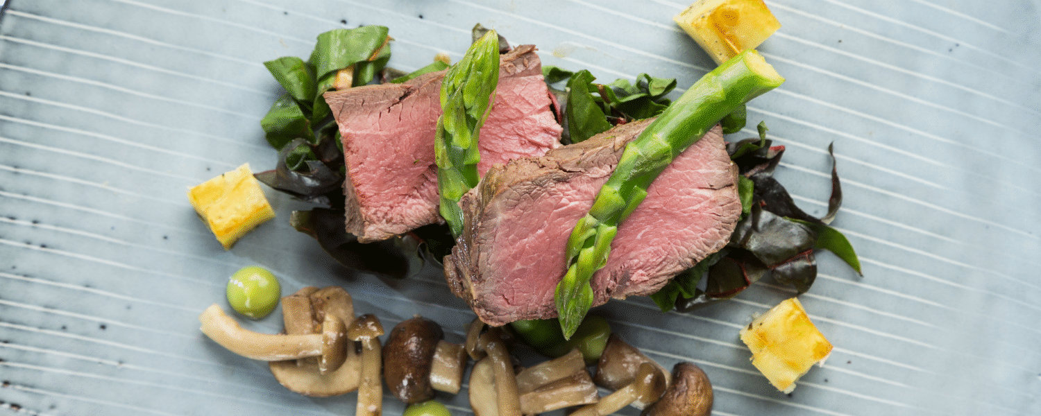 Beef, Asparagus and Mushrooms