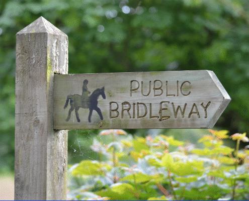 Bridleway signpost