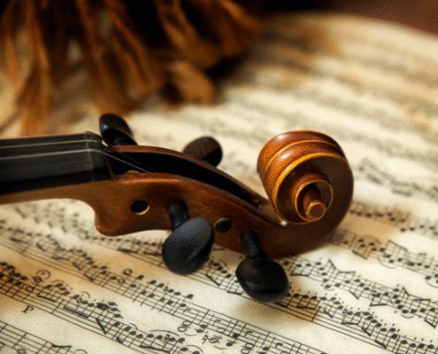 Violin and sheet music