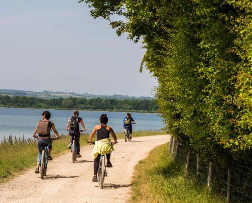Cycling at Rutland Water